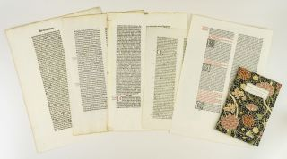 LETTERS FROM THE 15TH CENTURY: ON THE ORIGINS OF THE KELMSCOTT CHAUCER TYPEFACE. A STUDY, WITH SPECIMEN LEAVES, OF THE INFLUENCE OF THE EARLY GERMAN PRINTERS ON WILLIAM MORRIS' MASTERPIECE.