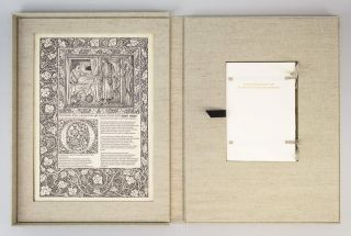 LETTERS FROM THE 15TH CENTURY: ON THE ORIGINS OF THE KELMSCOTT CHAUCER TYPEFACE. A STUDY, WITH...