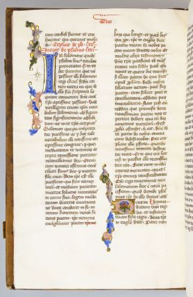 TEXT COMPRISING AUGUSTINE'S EXPOSITIONS, ALONG WITH PSALMS 62-71. AN ILLUMINATED VELLUM...