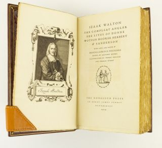 THE COMPLEAT ANGLER. [bound with] THE LIVES OF DONNE, WOTTON, HOOKER, HERBERT, & SANDERSON,...