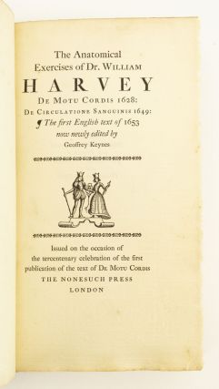 THE ANATOMICAL EXERCISES OF DR. WILLIAM HARVEY.