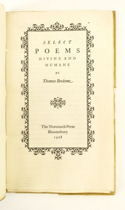 SELECT POEMS DIVINE AND HUMANE.