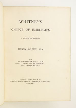 "WHITNEY'S ""CHOICE OF EMBLEMS."""