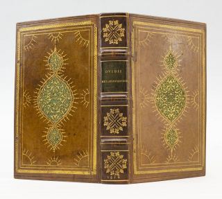 ANNOTATIONES IN OMNIA OVIDII OPERA. METAMORPHOSEON LIBRI XV [METAMORPHOSES]. BINDINGS - VENETIAN...