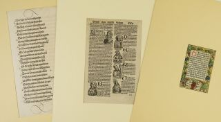 A COLLECTION OF 37 PRINTED LEAVES FROM BOOKS PRINTED IN AUGSBURG, 33 FROM INCUNABULA. INCUNABULAR...