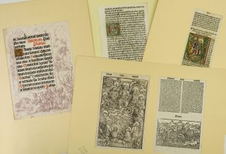 A COLLECTION OF 37 PRINTED LEAVES FROM BOOKS PRINTED IN AUGSBURG, 33 FROM INCUNABULA.