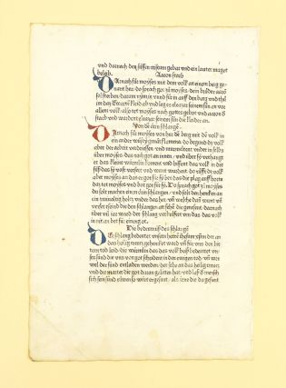 CHRONIK. INCUNABULAR PRINTED LEAF, JACOB VON KÖNIGSHOVEN