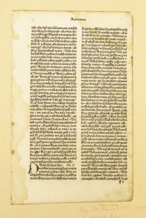 TEXT FROM ROMANS 4-7, AND 2 CORINTHIANS 4-7. INCUNABULAR PRINTED LEAVES - CZECH, OFFERED...