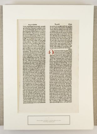 ALTE TYPOGRAPHIE UND BUCHKUNST. [OLD TYPOGRAPHY AND BOOK ART]. LEAF BOOK - INCUNABULA, HENNING...