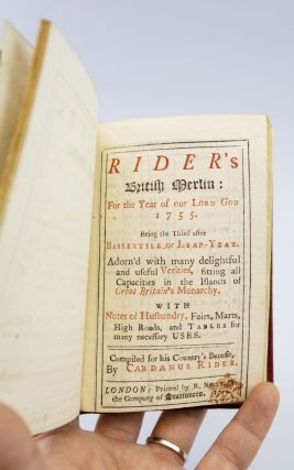 RIDER'S BRITISH MERLIN: FOR THE YEAR OF OUR LORD GOD 1755.