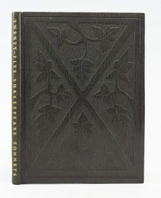 TWENTY-FIVE SONNETS. BINDINGS - ANN THORNTON, WILLIAM SHAKESPEARE, SHAKESPEARE HEAD PRESS