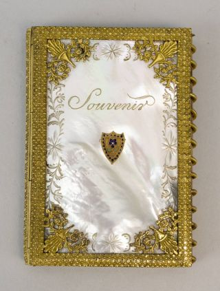 SOUVENIR. BINDINGS - MOTHER-OF-PEARL, POCKET CALENDAR