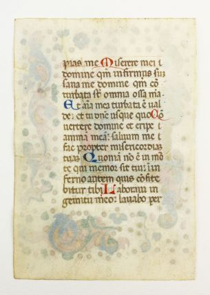 TEXT FROM THE BEGINNING OF THE PENITENTIAL PSALMS.