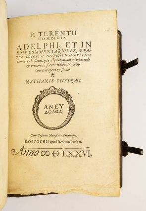 IN SATYRAS SEX. [bound with] TERENTIUS AFER, PUBLIUS. COMOEDIA ADELPHI.