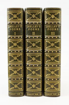 THE POETICAL WORKS OF PERCY BYSSHE SHELLEY. KELMSCOTT PRESS, SHELLEY, SSHE, BINDINGS -...
