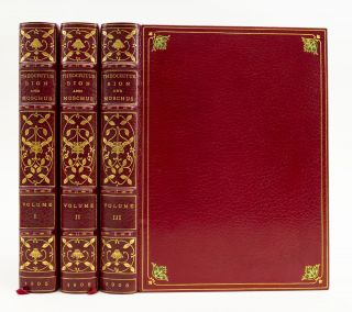 THE IDYLLS AND EPIGRAMS OF THEOCRITUS, BION, AND MOSCHUS. BINDINGS - HARCOURT BINDERY, THEOCRITUS