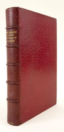 THE OXFORD BOOK OF FRENCH VERSE. BINDINGS - MORRELL