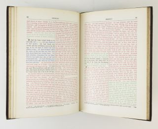 GENESIS PRINTED IN COLORS. SHOWING THE ORIGINAL SOURCES FROM WHICH IT IS SUPPOSED TO HAVE BEEN COMPILED.