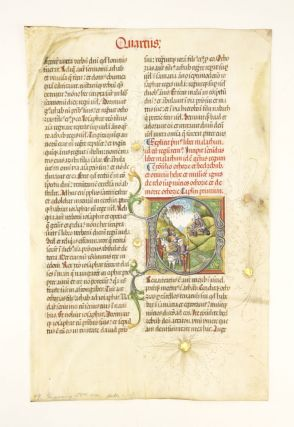 TEXT FROM END OF 1 KINGS AND OPENING OF 2 KINGS. WITH A. VERY LARGE AND STRIKING HISTORIATED...