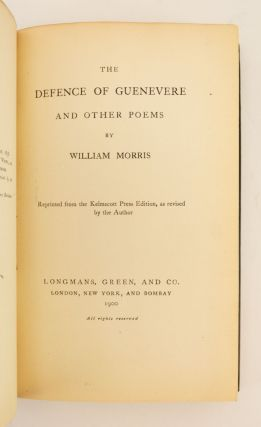 THE DEFENCE OF GUENEVERE AND OTHER POEMS.