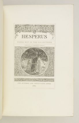 GOLDEN APPLES OF HESPERUS. POEMS NOT IN THE COLLECTIONS.