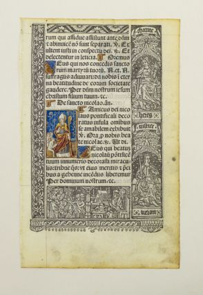 ALL WITH LIVELY BORDERS, AND SOME WITH FINELY HAND-COLORED MINIATURES. VELLUM PRINTING, OFFERED...
