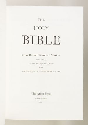 BIBLE IN ENGLISH. THE HOLY BIBLE. NEW REVISED STANDARD VERSION CONTAINING THE OLD AND NEW TESTAMENTS WITH THE APOCRYPHAL OR DEUTEROCANONICAL BOOKS.