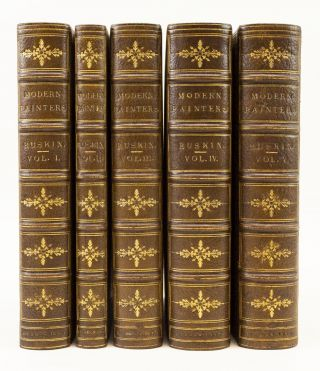 MODERN PAINTERS. BINDINGS - FINELY BOUND SETS, JOHN RUSKIN