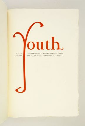 YOUTH. BLAIR HUGHES-STANTON, JOSEPH . CONRAD, ALLEN PRESS