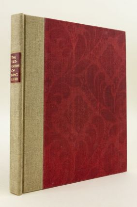 THE TRAGEDIE OF KING LEAR. GRABHORN PRESS, WILLIAM SHAKESPEARE