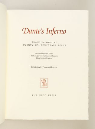 DANTE'S INFERNO: TRANSLATIONS BY TWENTY CONTEMPORARY POETS.