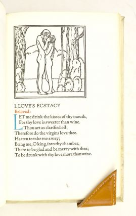 THE SONG OF SONGS. BEING LOVE LYRICS FROM ANCIENT PALESTINE. GRABHORN PRESS, BIBLE IN ENGLISH