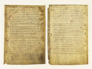 TEXT FROM THE THIRD SUNDAY AFTER EASTER. OFFERED INDIVIDUALLY TWO VELLUM MANUSCRIPT LEAVES, FROM...