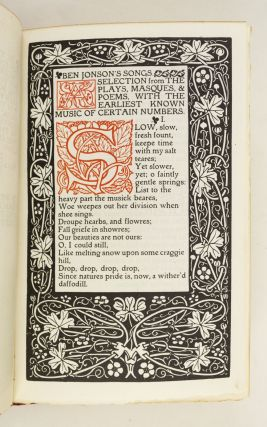 SONGS. A SELECTION FROM THE PLAYS, MASQUES, AND POEMS, WITH THE EARLIEST KNOWN SETTINGS OF CERTAIN NUMBERS.