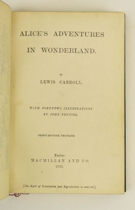 ALICE'S ADVENTURES IN WONDERLAND and THROUGH THE LOOKING-GLASS.
