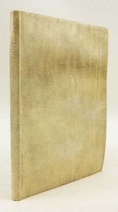 SEVEN POEMS & TWO TRANSLATIONS. DOVES PRESS, ALFRED TENNYSON, LORD, VELLUM PRINTING