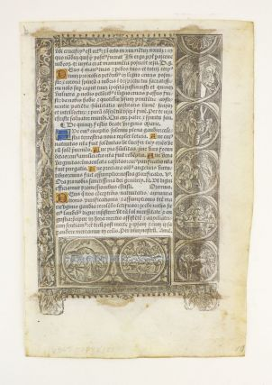 FROM A BOOK OF HOURS IN LATIN, WITH A FULL-PAGE HAND-COLORED MINIATURE OF THE TREE OF JESSE.