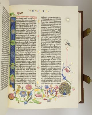BIBLIA SACRA]. FACSIMILE BIBLE IN LATIN - GUTENBERG BIBLE