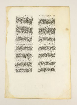 A LEAF FROM THE LETTERS OF ST. JEROME, FIRST PRINTED BY SIXTUS REISSINGER, ROME, ca. 1466-1467....