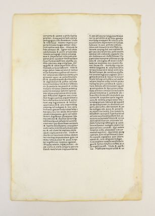 A LEAF FROM THE LETTERS OF ST. JEROME, FIRST PRINTED BY SIXTUS REISSINGER, ROME, ca. 1466-1467.