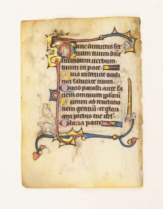 FROM A SMALL PSALTER-HOURS IN LATIN, WITH IMMENSELY CHARMING MARGINALIA.