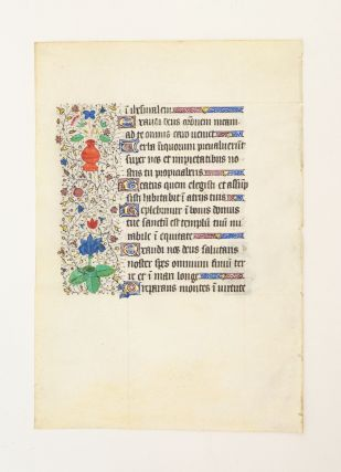 FROM A LARGE BOOK OF HOURS IN LATIN.