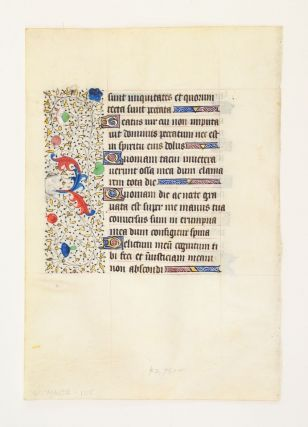 FROM A LARGE BOOK OF HOURS IN LATIN AND FRENCH