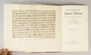THE LETTERS . . . WITH MRS. THRALE'S GENUINE LETTERS TO HIM.