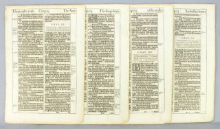 TEXTS FROM NEHEMIAH. OFFERED INDIVIDUALLY PRINTED LEAVES, FROM A. BIBLE IN ENGLISH, THE KING...