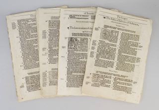OFFERED INDIVIDUALLY PRINTED LEAVES, FROM A. BIBLE IN ENGLISH, THE BISHOPS' BIBLE