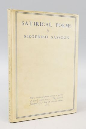 SATIRICAL POEMS. SIEGFRIED SASSOON