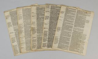 THE GENEVA BIBLE). OFFERED INDIVIDUALLY PRINTED LEAVES, FROM A. BIBLE IN ENGLISH
