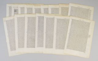 LE DECHE DI T. LIVIO PADOVANO DELLE HISTORIE ROMANE. OFFERED INDIVIDUALLY PRINTED LEAVES, FROM...