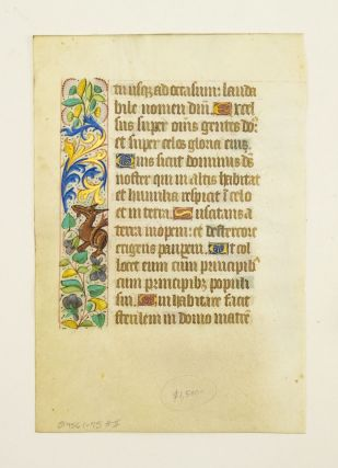 FROM A BOOK OF HOURS IN LATIN.